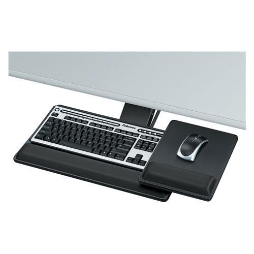 Designer Suites Premium Keyboard Tray, 19w x 10.63d, Black. Picture 2