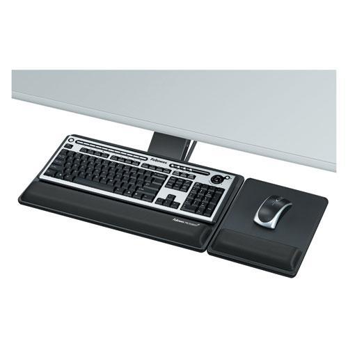 Designer Suites Premium Keyboard Tray, 19w x 10.63d, Black. Picture 1