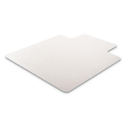 RollaMat Frequent Use Chair Mat, Med Pile Carpet, Flat, 36 x 48, Lipped, Clear. Picture 6