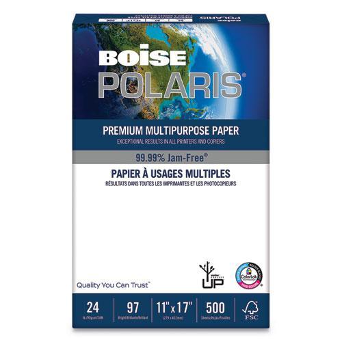 POLARIS Premium Laser Paper, 98 Bright, 24 lb, 11 x 17, White, 500/Ream. Picture 1