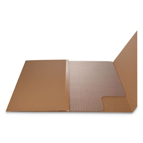 RollaMat Frequent Use Chair Mat, Med Pile Carpet, Flat, 36 x 48, Lipped, Clear. Picture 7