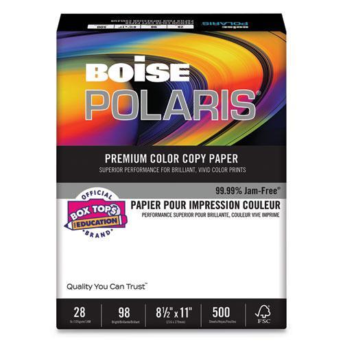 POLARIS Premium Color Copy Paper, 98 Bright, 28lb, 8.5 x 11, White, 500/Ream. Picture 1