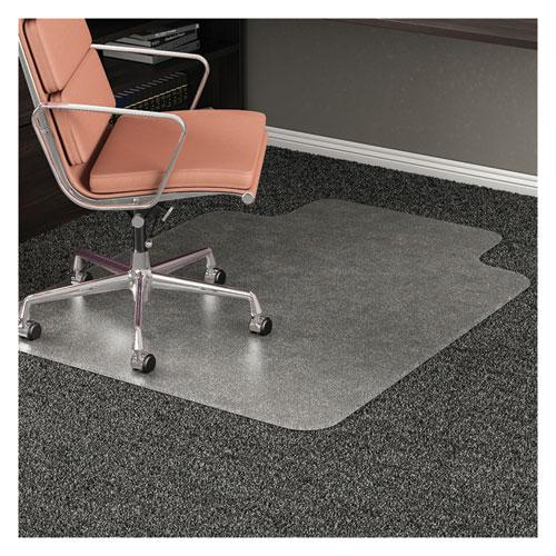 RollaMat Frequent Use Chair Mat, Med Pile Carpet, Flat, 36 x 48, Lipped, Clear. Picture 4