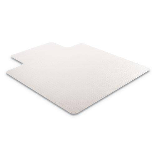 RollaMat Frequent Use Chair Mat, Med Pile Carpet, Flat, 36 x 48, Lipped, Clear. Picture 8