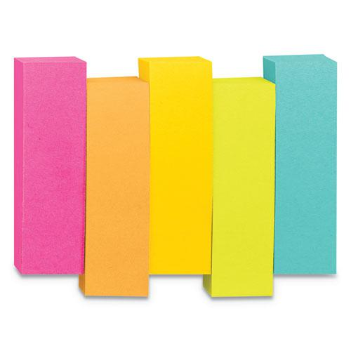 Page Flag Markers, Assorted Brights, 100 Strips/Pad, 5 Pads/Pack. Picture 3