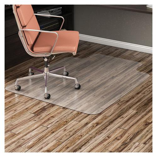 EconoMat All Day Use Chair Mat for Hard Floors, 45 x 53, Wide Lipped, Clear. Picture 10