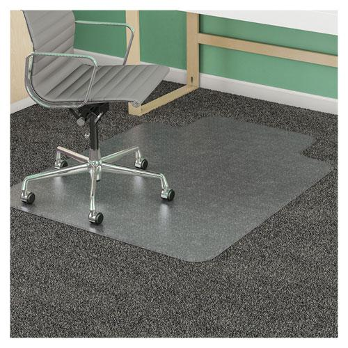 SuperMat Frequent Use Chair Mat for Medium Pile Carpet, 45 x 53, Wide Lipped, Clear. Picture 11