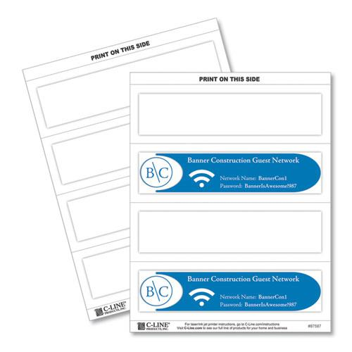 Embossed Tent Cards, White, 2.5 x 8.5, 2 Card/Sheet, 50 Sheets/Box. Picture 1