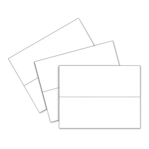 Scored Tent Cards, 4.25 x 11, White Cardstock, 50 Letter Sheets/Box. Picture 3