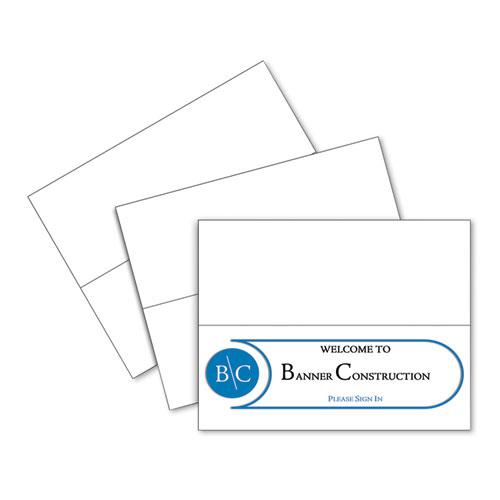 Scored Tent Cards, 4.25 x 11, White Cardstock, 50 Letter Sheets/Box. Picture 1