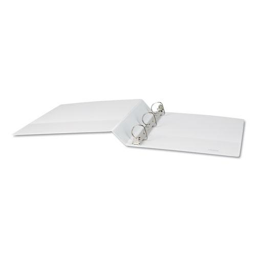 """Slant-Ring View Binder, 3 Rings, 1.5"""" Capacity, 11 x 8.5, White. Picture 2"""