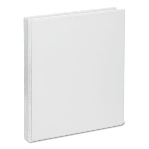 """Deluxe Round Ring View Binder, 3 Rings, 0.5"""" Capacity, 11 x 8.5, White. Picture 1"""