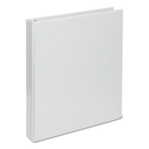 "Deluxe Round Ring View Binder, 3 Rings, 1"" Capacity, 11 x 8.5, White. The main picture."