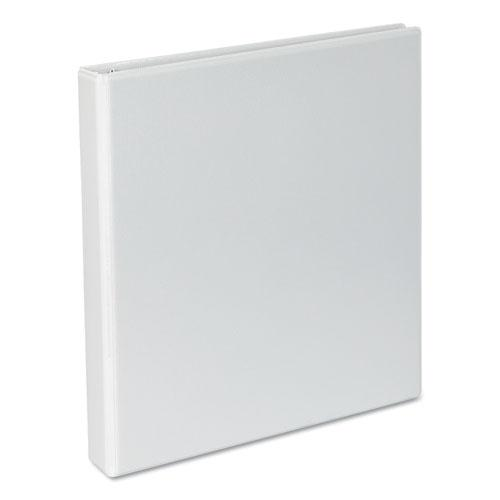 """Slant-Ring View Binder, 3 Rings, 1"""" Capacity, 11 x 8.5, White. Picture 1"""