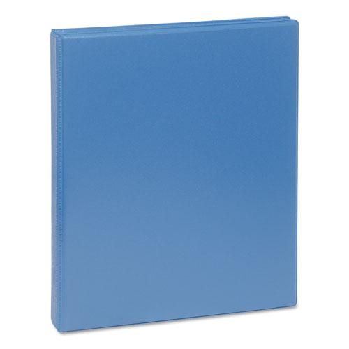 "Deluxe Round Ring View Binder, 3 Rings, 0.5"" Capacity, 11 x 8.5, Light Blue. Picture 1"