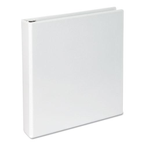 """Slant-Ring View Binder, 3 Rings, 1.5"""" Capacity, 11 x 8.5, White. Picture 1"""