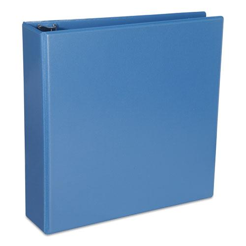 """Deluxe Round Ring View Binder, 3 Rings, 2"""" Capacity, 11 x 8.5, Light Blue. Picture 1"""