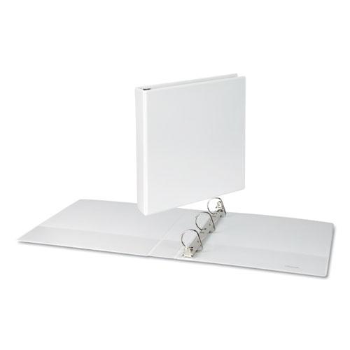 """Slant-Ring View Binder, 3 Rings, 1.5"""" Capacity, 11 x 8.5, White. Picture 3"""