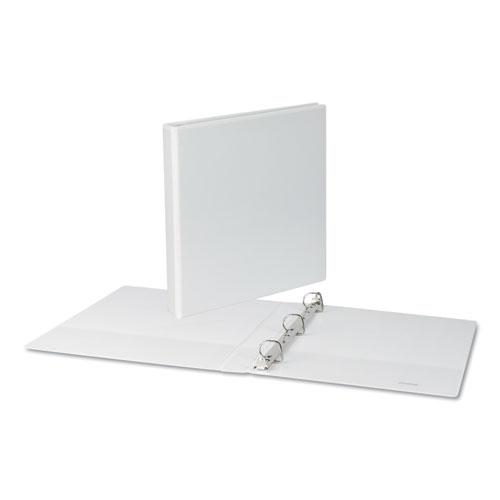 """Slant-Ring View Binder, 3 Rings, 1"""" Capacity, 11 x 8.5, White. Picture 3"""