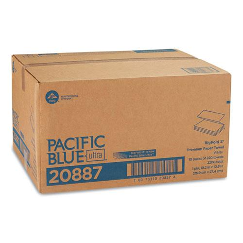 Pacific Blue Ultra Folded Paper Towels, 10 1/5x10 4/5,White, 220/Pack, 10 Pks/CT. Picture 5