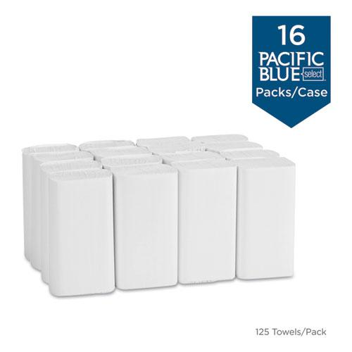 Blue Select Multi-Fold 2 Ply Paper Towel, 9 1/5 x 9 2/5, White,125/PK, 16 PK/CT. Picture 5