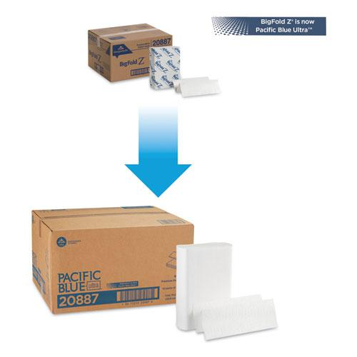 Pacific Blue Ultra Folded Paper Towels, 10 1/5x10 4/5,White, 220/Pack, 10 Pks/CT. Picture 3