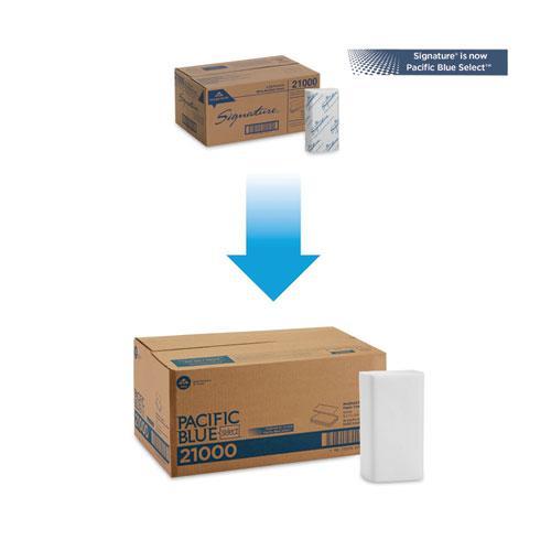 Blue Select Multi-Fold 2 Ply Paper Towel, 9 1/5 x 9 2/5, White,125/PK, 16 PK/CT. Picture 4