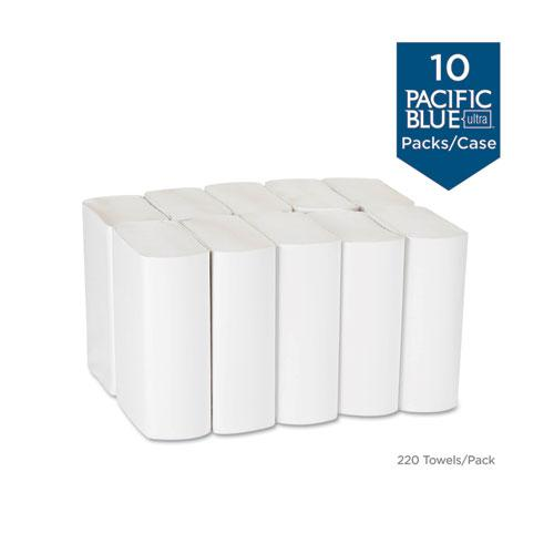 Pacific Blue Ultra Folded Paper Towels, 10 1/5x10 4/5,White, 220/Pack, 10 Pks/CT. Picture 2