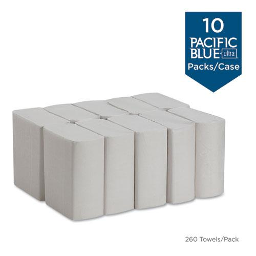 Pacific Blue Ultra Z-Fold Folded Paper Towels, 8 x 11, White, 260/Pack, 10 PK/CT. Picture 3