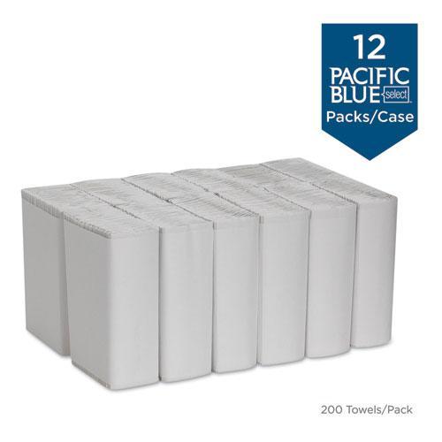 Pacific Blue Select C-Fold Paper Towel, 10 1/10 x 13 2/5,White,200/PK, 12 PK/CT. Picture 2