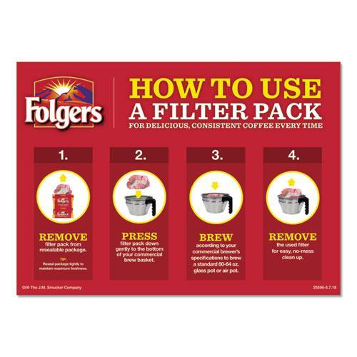 Coffee Filter Packs, Classic Roast, .9 oz, 10 Filters/Pack, 4 Packs/Carton