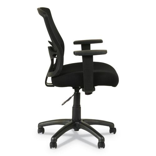 Alera Etros Series Mesh Mid-Back Chair, Supports up to 275 lbs, Black Seat/Black Back, Black Base. Picture 5