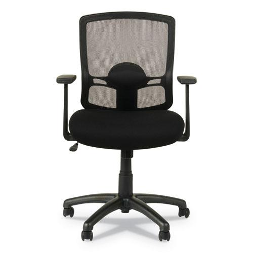 Alera Etros Series Mesh Mid-Back Chair, Supports up to 275 lbs, Black Seat/Black Back, Black Base. Picture 11
