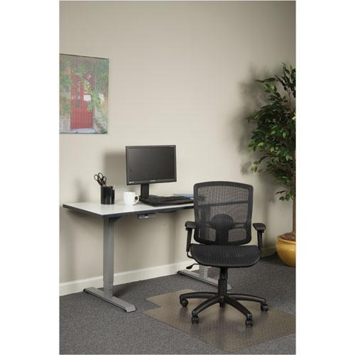 Alera Etros Series Suspension Mesh Mid-Back Synchro Tilt Chair, Supports up to 275 lbs, Black Seat/Black Back, Black Base. Picture 3