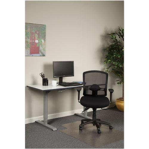 Alera Etros Series Mesh Mid-Back Petite Multifunction Chair, Supports up to 275 lbs, Black Seat/Black Back, Black Base. Picture 3