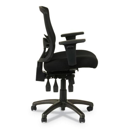 Alera Etros Series Mesh Mid-Back Petite Multifunction Chair, Supports up to 275 lbs, Black Seat/Black Back, Black Base. Picture 17