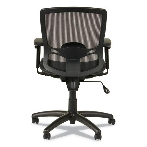 Alera Etros Series Suspension Mesh Mid-Back Synchro Tilt Chair, Supports up to 275 lbs, Black Seat/Black Back, Black Base. Picture 2