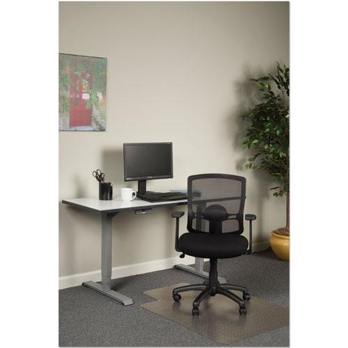 Alera Etros Series Mesh Mid-Back Chair, Supports up to 275 lbs, Black Seat/Black Back, Black Base. Picture 4