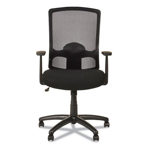 Alera Etros Series High-Back Swivel/Tilt Chair, Supports up to 275 lbs, Black Seat/Black Back, Black Base. Picture 4