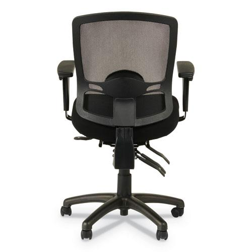 Alera Etros Series Mesh Mid-Back Petite Multifunction Chair, Supports up to 275 lbs, Black Seat/Black Back, Black Base. Picture 9