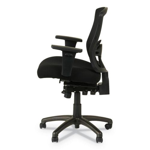 Alera Etros Series Mesh Mid-Back Petite Multifunction Chair, Supports up to 275 lbs, Black Seat/Black Back, Black Base. Picture 4