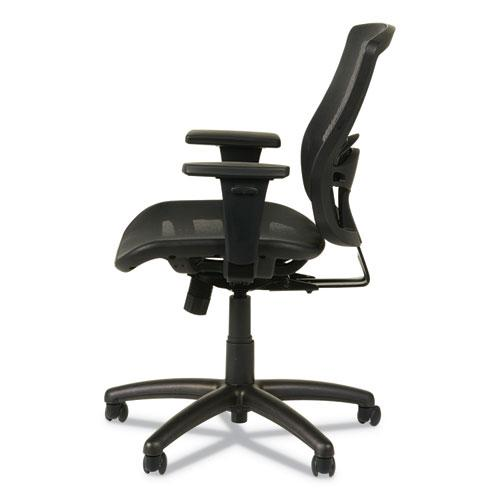 Alera Etros Series Suspension Mesh Mid-Back Synchro Tilt Chair, Supports up to 275 lbs, Black Seat/Black Back, Black Base. Picture 5