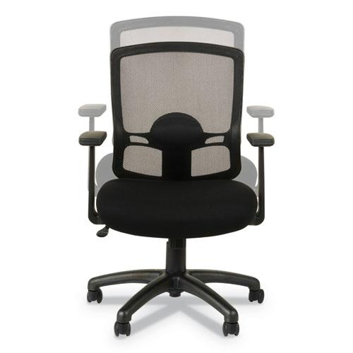 Alera Etros Series Mesh Mid-Back Chair, Supports up to 275 lbs, Black Seat/Black Back, Black Base. Picture 8