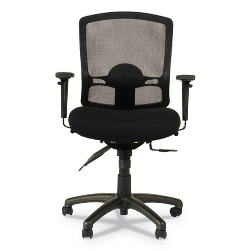 Alera Etros Series Mesh Mid-Back Petite Multifunction Chair, Supports up to 275 lbs, Black Seat/Black Back, Black Base. Picture 8