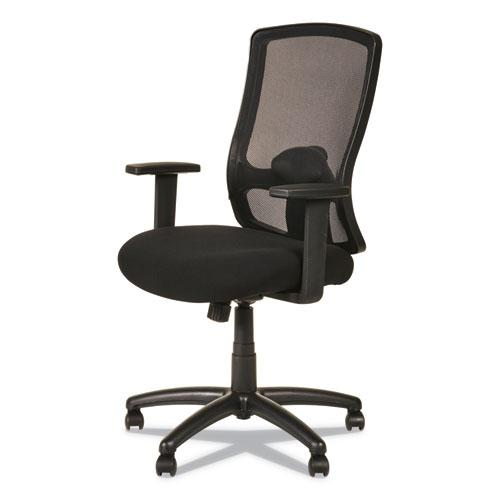 Alera Etros Series High-Back Swivel/Tilt Chair, Supports up to 275 lbs, Black Seat/Black Back, Black Base. Picture 5
