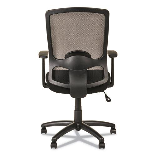 Alera Etros Series High-Back Swivel/Tilt Chair, Supports up to 275 lbs, Black Seat/Black Back, Black Base. Picture 9