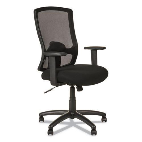 Alera Etros Series High-Back Swivel/Tilt Chair, Supports up to 275 lbs, Black Seat/Black Back, Black Base. Picture 1