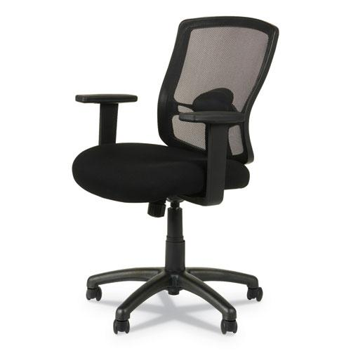 Alera Etros Series Mesh Mid-Back Chair, Supports up to 275 lbs, Black Seat/Black Back, Black Base. Picture 7