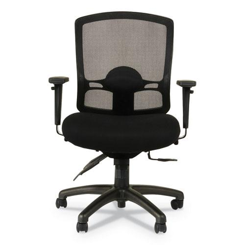 Alera Etros Series Mesh Mid-Back Petite Multifunction Chair, Supports up to 275 lbs, Black Seat/Black Back, Black Base. Picture 10