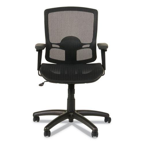Alera Etros Series Suspension Mesh Mid-Back Synchro Tilt Chair, Supports up to 275 lbs, Black Seat/Black Back, Black Base. Picture 8